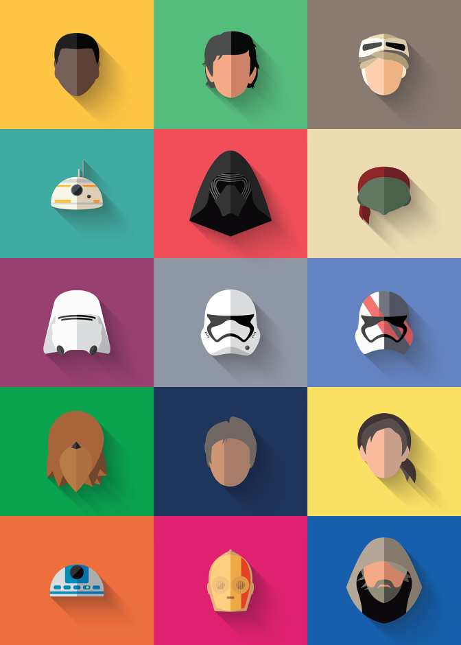 Force Awakens Icons