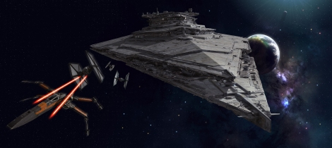 The Finalizer First Order Star Destroyer Star Wars The Force Awakens Space Battle