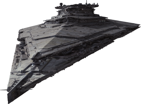 The Finalizer First Order Star Destroyer Star Wars The Force Awakens Spacecraft Cut Out with Transparent Background