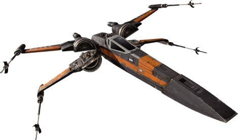 X Wing T-70 Black Squadron Star-Wars-The-Force-Awakens-Spacecraft-Cut-Out-with-Transparent-Background