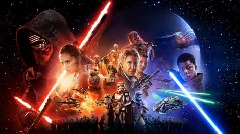 Star Wars The Force Awakens Official Film Poster Header