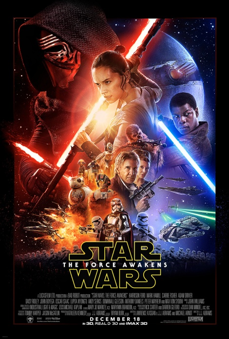 Star Wars The Force Awakens Official Large Film Poster by Drew Struzan
