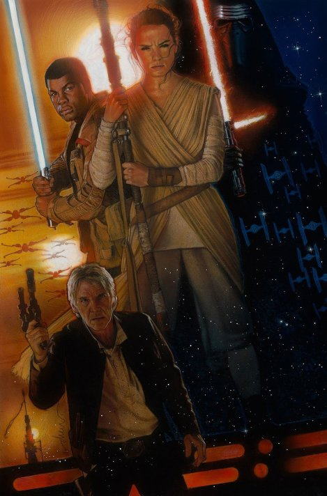 Star Wars The Force Awakens Teaser Poster by Drew Struzan