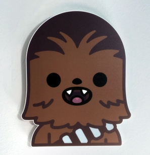 100% Soft Chewbacca Star Wars Art Awakens by Truck Torrence