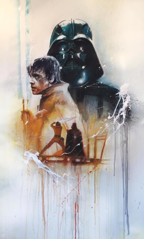 A fight before truth Original Star Wars Art Awakens by Rob Prior