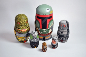 Andy Stattmiller Bounty Hunter Russian Dolls Art Awakens 3