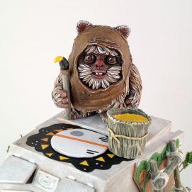 Art Awakens Exhibitions Brad Hill Savage Ewoks Sculpture 2
