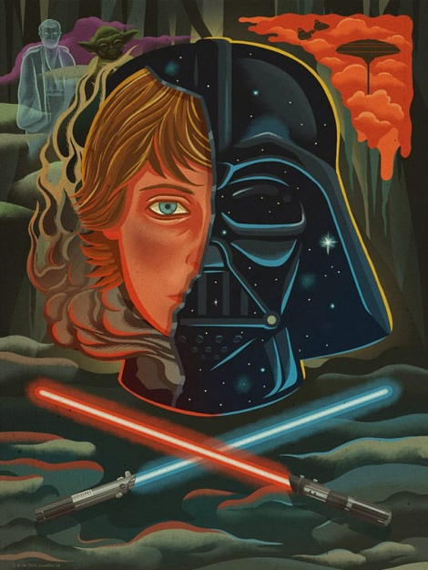 Art Awakens Exhibition Only What You Take With You Original Star Wars Artwork by Dave Quiggle