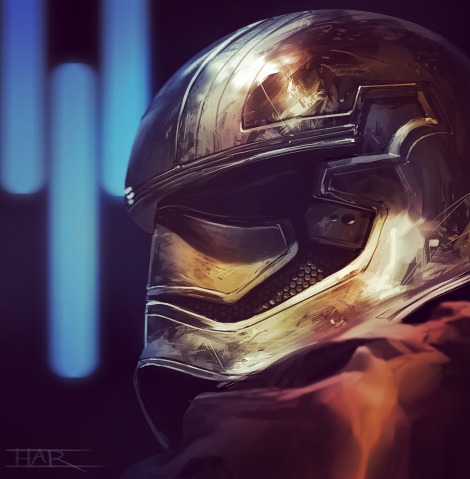 Art Awakens Star Wars Exhibition Captain Phasma by Robin H