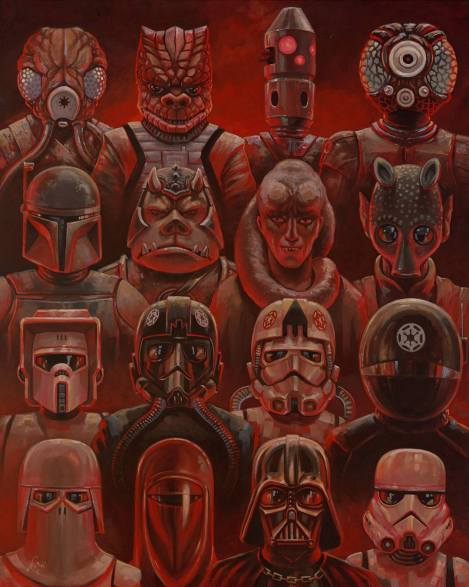 Baddies by Aaron Jasinski Art Awakens Exhibition