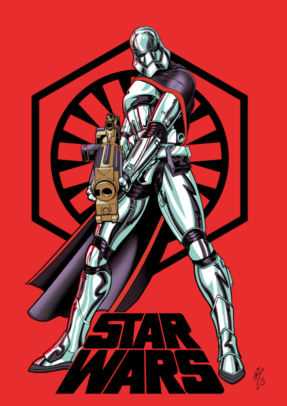 Captain Phasma Star Wars The Force Awakens Cover by daztibbles