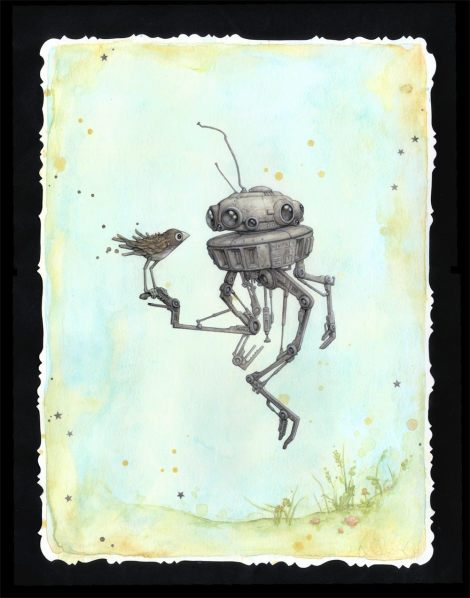 Droid in Spring - Star Wars - Art Awakens - Leontine Greenberg