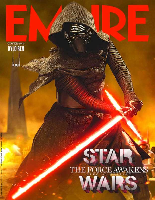 Empire Magazine Star ars The Force Awakens Special Edition Covers Jan 2016 _ Kylo Ren Hi Res