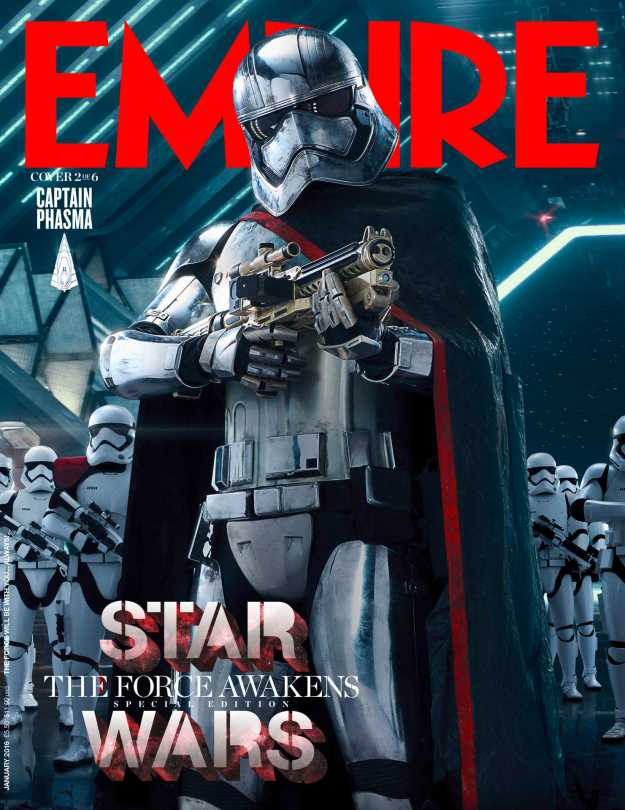 Empire Magazine Star Wars The Force Awakens Special Edition Covers Jan 2016 _ Captain Phasma Hi Res