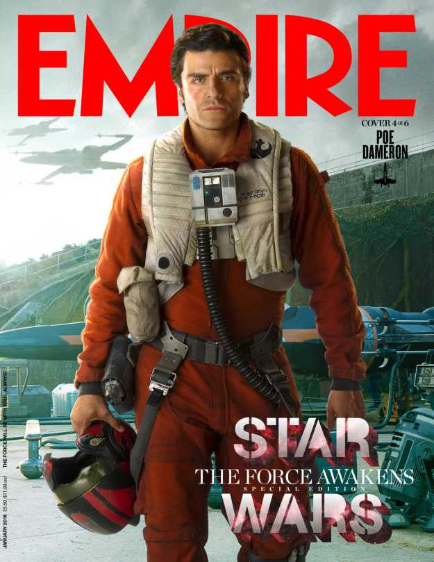 Empire Magazine Star Wars The Force Awakens Special Edition Covers Jan 2016 _ Poe Dameron Hi Res