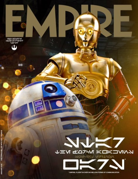 Empire Magazine Subscriber Exclusive The Force Awakens Star Wars Cover C-3PO and R2-D2