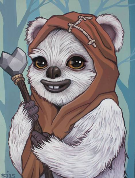 From Endor with Love Original Star Wars Art Awakens by Sarah Joncas
