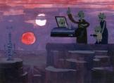Greedo's Funeral Original Star Wars Artwork by Nathan Stapley