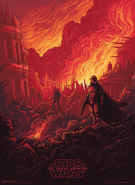 IMAX Poster Star Wars The Force Awakens by Dan Mumford IMAX Exclusive Poster 3 of 4 Hi Res