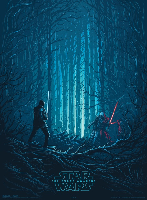 IMAX Poster Star Wars The Force Awakens by Dan Mumford IMAX Exclusive Poster 4 of 4 Hi Res