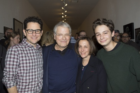 JJ Abrams, Star Wars writer Lawrence Kasdan, Meg Kasdan and JJ's son Henry Abrams