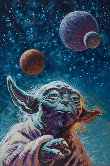 Luminous Beings Are We_ Art Awakens Star Wars Artwork by Stephen Andrade