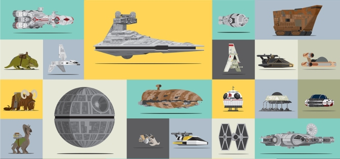 Star Wars Original Trilogy Vehicle Art