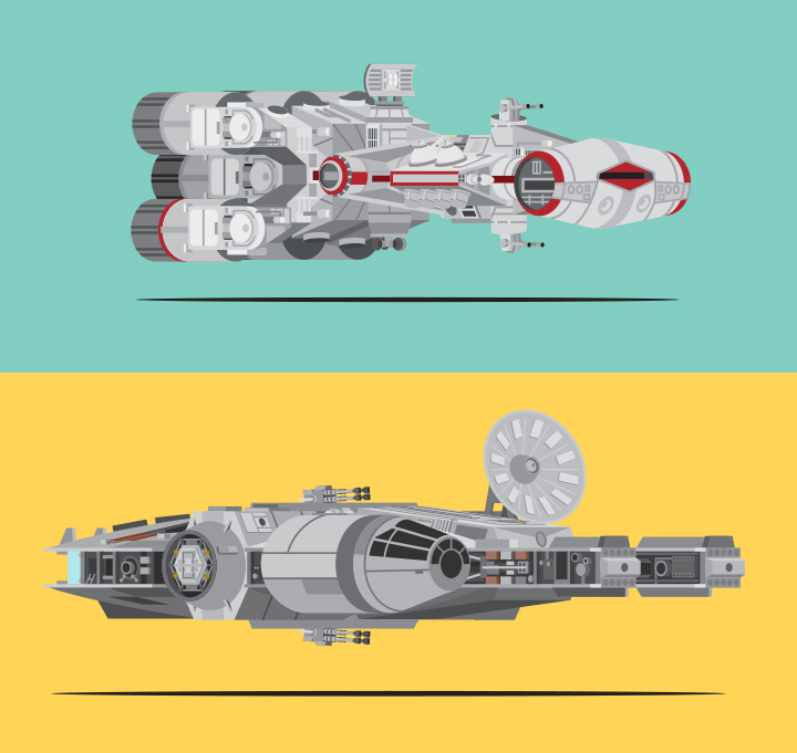 Mondo Art of the Vehicles from the Star Wars Original Trilogy by Scott Park Detail (1)