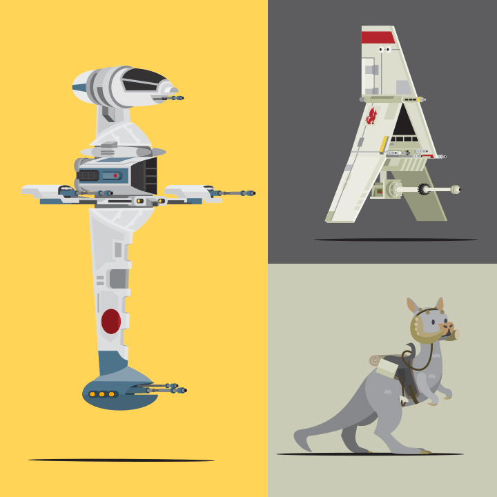 Mondo Art of the Vehicles from the Star Wars Original Trilogy by Scott Park Detail (3)