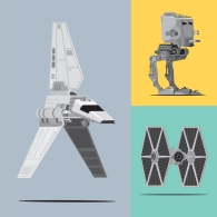 Mondo Art of the Vehicles from the Star Wars Original Trilogy by Scott Park Detail (4)