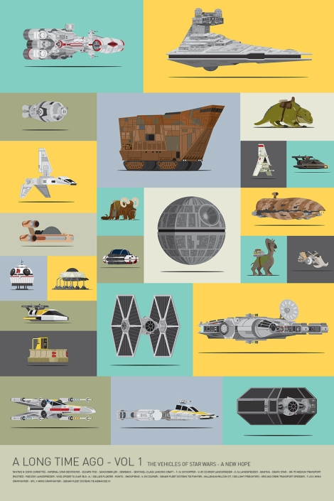 Mondo Art of the Vehicles from the Star Wars Original Trilogy Volume 1 Star Wars by Scott Park
