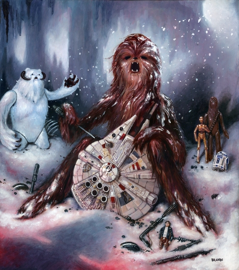 Punch It Chewie - Star Wars Art Awakens by Brandi Milne