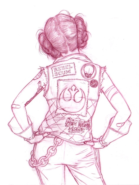 Rebel Sketch Star Wars Art Awakens Artwork by Julian Callos