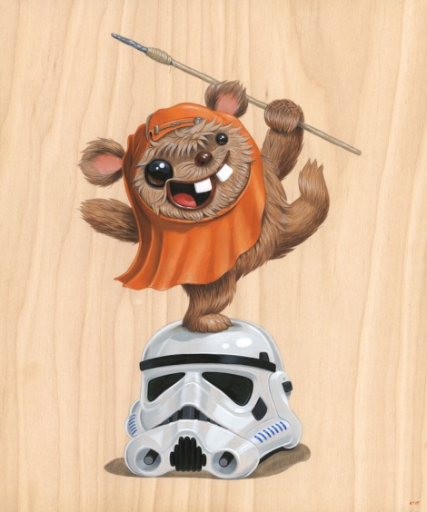 Rejoice - Star Wars - Art Awakens Exhibition by Kristin Tercek