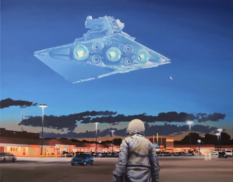 Star Destroyer - Star Wars - Art Awakens by Scott Listfield