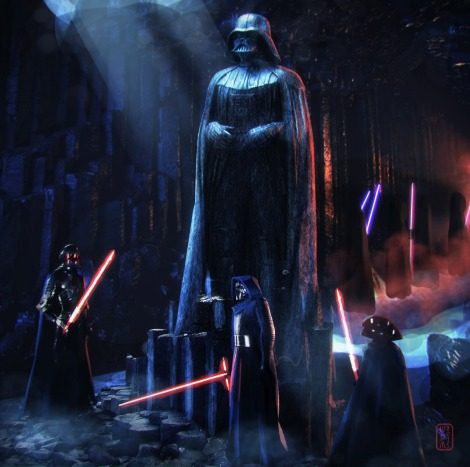 Star Wars Art Awakens Exhibition Knights of Ren… Darth Vader fans