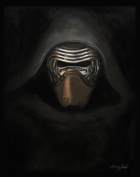 Star Wars Art Awakens Exhibition Kylo Ren by Kevin L
