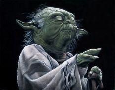 Star Wars - Art Awakens Exhibition - Yoda by Bruce White