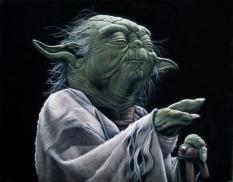 Star Wars - Art Awakens Exhibition - Yoda by Bruce White