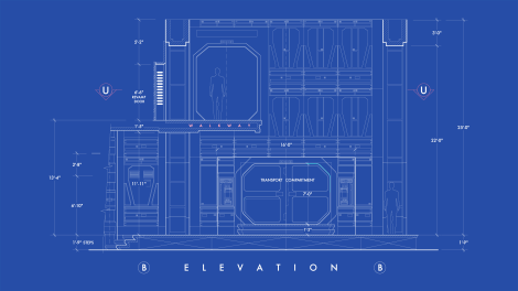 Star Wars The Force Awakens Blueprints of Starkiller Base Elevation B