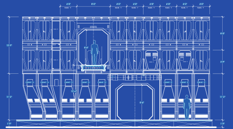 Star Wars The Force Awakens Blueprints of Starkiller Base Elevation F Detail