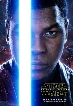 Star Wars The Force Awakens Hi Res Character Film Posters Finn