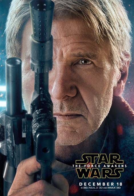 Star Wars The Force Awakens Hi Res Character Film Posters Han Solo