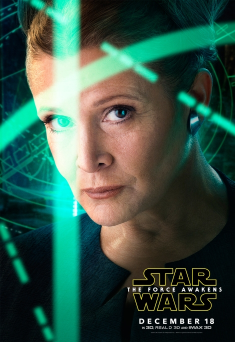 Star Wars The Force Awakens Hi Res Character Film Posters Princess Leia