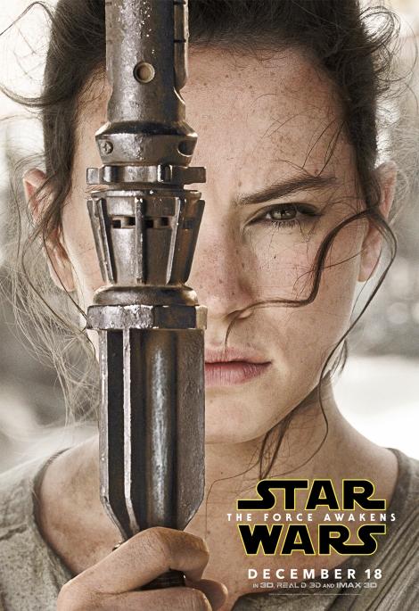 Star Wars The Force Awakens Hi Res Character Film Posters Rey Skywalker