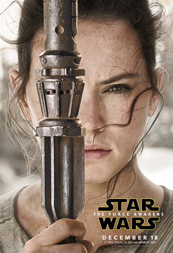 Star Wars The Force Awakens Hi Res Character Film Posters Rey Skywalker