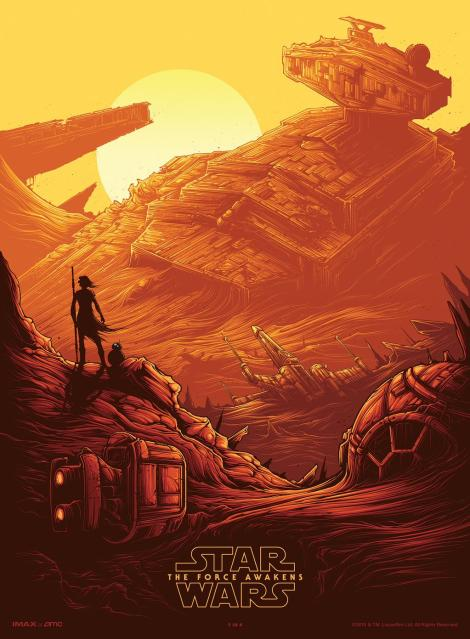 Star Wars The Force Awakens IMAX Poster Part 1of4 Artwork by Dan Mumford