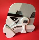 Stormtrooper Helmet Sculpture 1 Original Star Wars Artwork by Tom Whalen