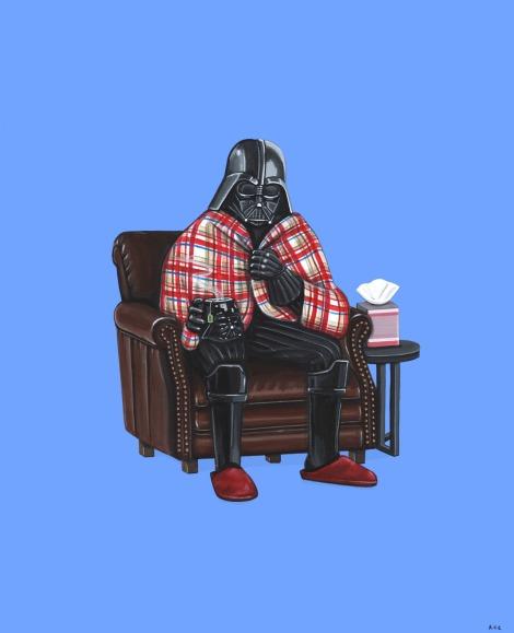 Taking a Sick Day Original Star Wars Art Awakens Artwork by Kiersten Essenpreis