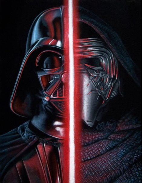 The Dark Side Original - Star Wars - Art Awakens by Bruce White